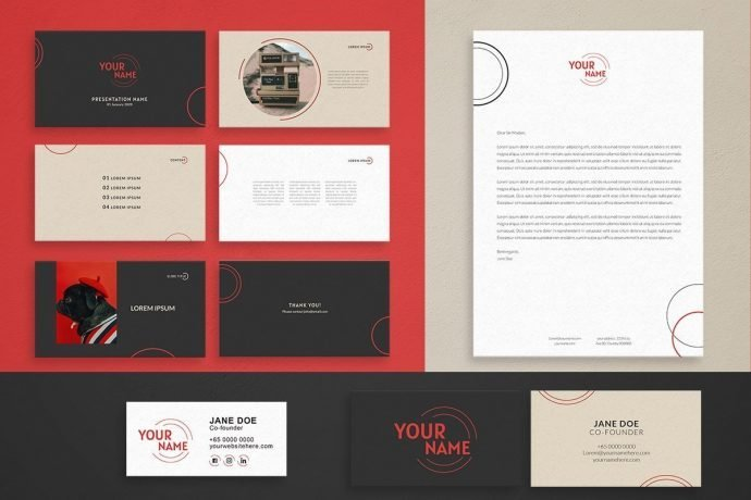 Just Start Up Branding Kit Collaterals Dynamic and Modern